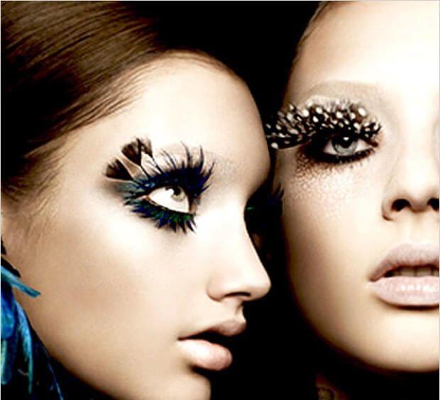 wearing specialty fake eyelashes