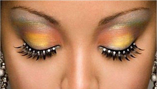 yellow mix eye lashes
