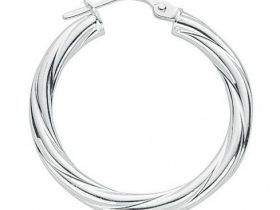 selection of silver hoop earrings